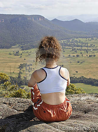 Sitting on the mountain top
