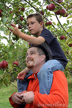 Free Sitting On Dad S Shoulders Royalty Free Stock Image - 18695526