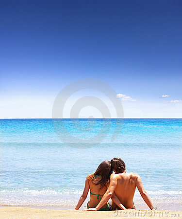 Free Sitting On The Beach Stock Photos - 3344313