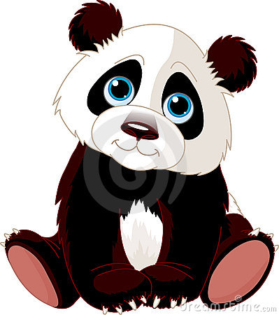 Free Sitting Panda Royalty Free Stock Photo - 13442375