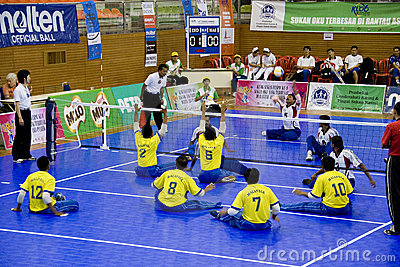 Sitting Volleyball for the Disabled Editorial Image