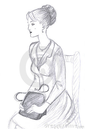 Sitting women, sketch