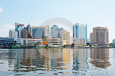 Sityscape of Kuching (Borneo, Malaysia) Editorial Photo