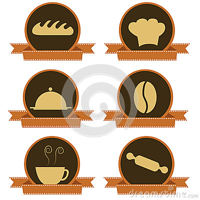 Six bakery icons