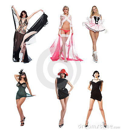 Six beautiful girls