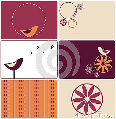 Six birds designs