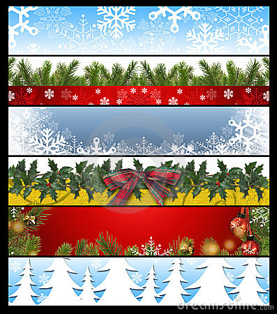 Free Six Christmas Banners 14 Royalty Free Stock Images - 11112329