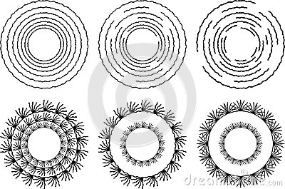 Six circular design Elements