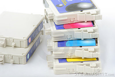 Six color inkjet printer cartridge