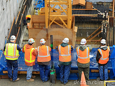 Six Construction Workers