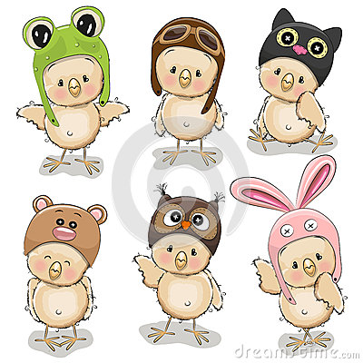 Free Six Cute Chicks Royalty Free Stock Image - 67555476