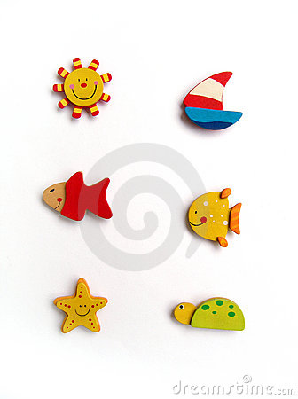 Six cute fridge magnets