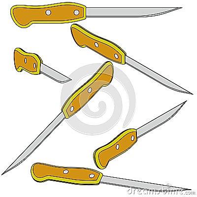 Six 3d bread knife