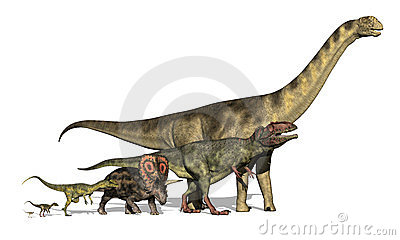 Six Dinosaurs Huge to Tiny