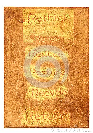 Six ecological phrases - rethink-Reuse-reduce-rest