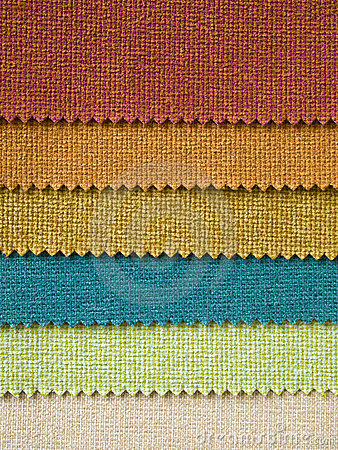 Six Fabric color Sample