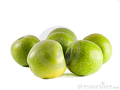 Six Granny Smith apples
