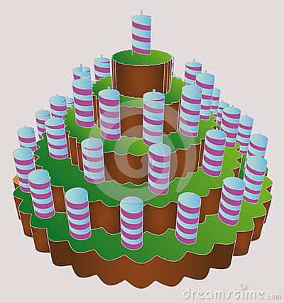 Six level huge birthday party cake