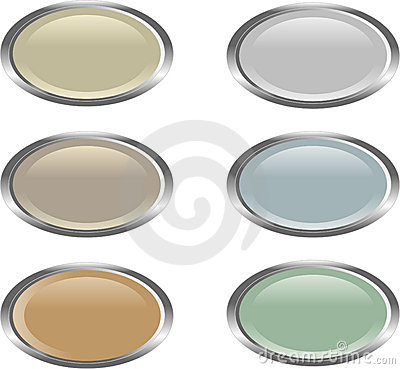 Six oval web buttons