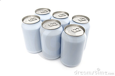 Six pack beverage cans