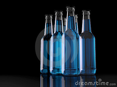 Six Pack - Bottles - Party Pack - 3D - Beer