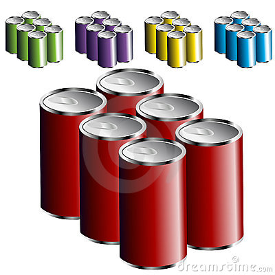 Six Pack Cans Royalty Free Stock Image - Image: 16438856