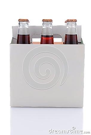 Six Pack of Cola Soda Bottles