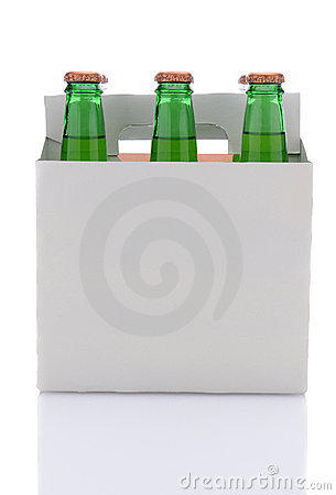 Six Pack of Lemon Lime Soda Bottles