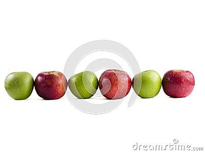 Six pommes