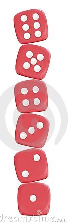 Free Six Red Dice Royalty Free Stock Images - 707059