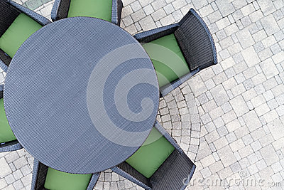 Six Seater Outdoor Patio Set Stock Photo Image 55322944
