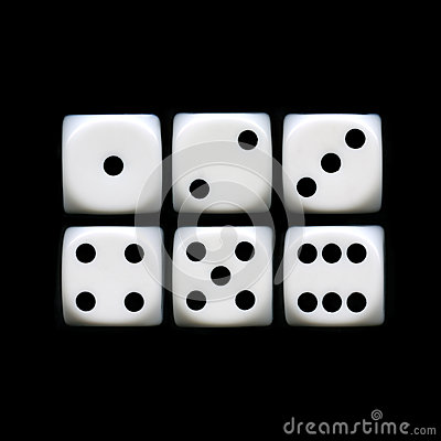 Free Six Sides Of A Dice Royalty Free Stock Photos - 27836758