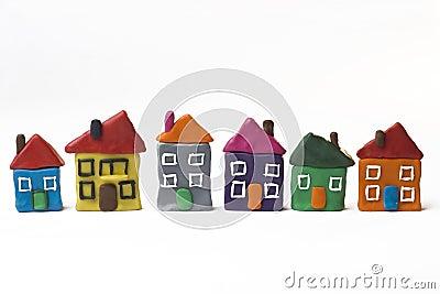 Six small houses