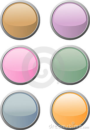 Free Six Soft-colored Web Buttons Royalty Free Stock Image - 5208146
