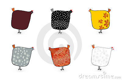 Six speckled hens