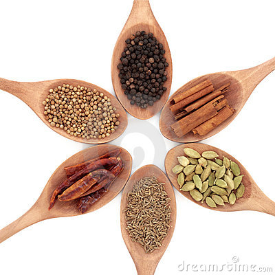 Free Six Spice Selection Royalty Free Stock Photo - 17714475