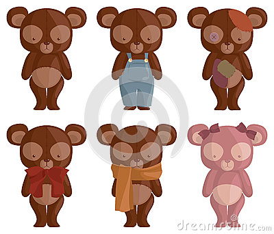 Six Teddy Bears
