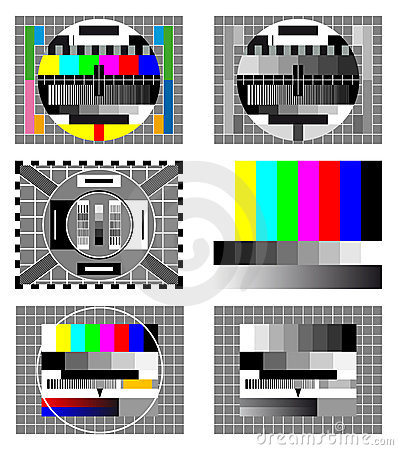 Six television test screen