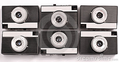 Six Vintage Lomography film camera