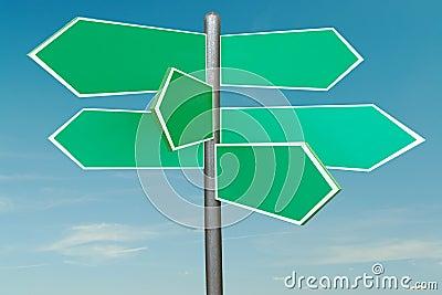 Six-way signpost