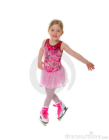 Six Year Old Figure Skater Girl