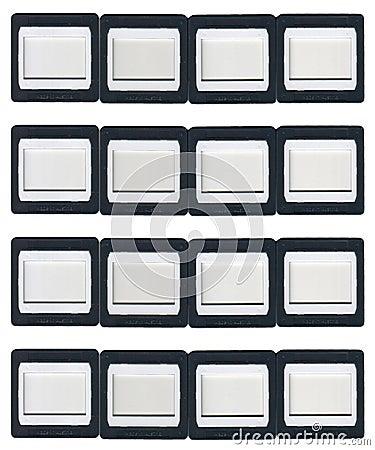 sixteen clip on slide frames