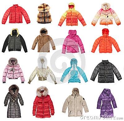 Free Sixteen Winter Jackets Stock Photography - 3777732