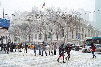 Sixth Ave Snow Editorial Photo