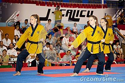 sixth WTF World Taekwondo Poomsae Championship Editorial Image