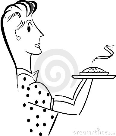 Sixties mom with pie