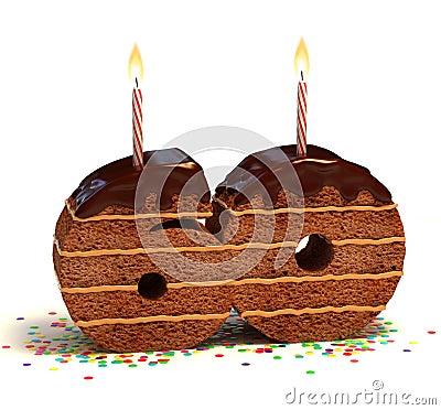 Sixtieth birthday or anniversary cake