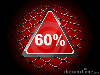Sixty percent discount background