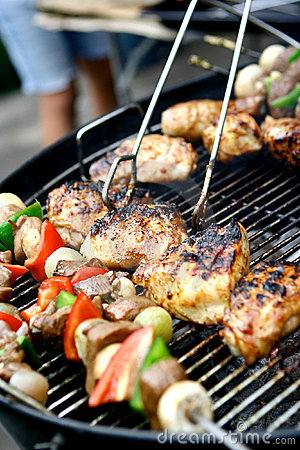 Sizzling chicken and kebabs