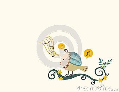 Sjunga för fågel